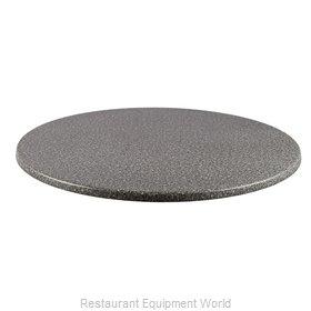 JMC Food Equipment 24 ROUND BLACK GRANITE Table Top, Solid Surface