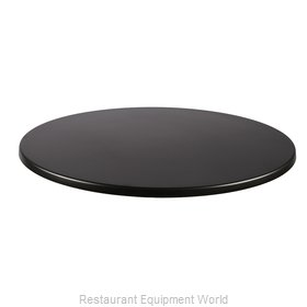 JMC Food Equipment 24 ROUND BLACK Table Top, Solid Surface
