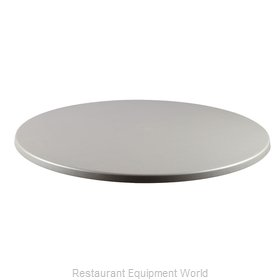 JMC Food Equipment 24 ROUND BRUSH SILVER Table Top, Solid Surface