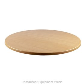 JMC Food Equipment 24 ROUND LIGHT OAK Table Top, Solid Surface