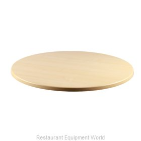 JMC Food Equipment 24 ROUND MAPLE Table Top, Solid Surface