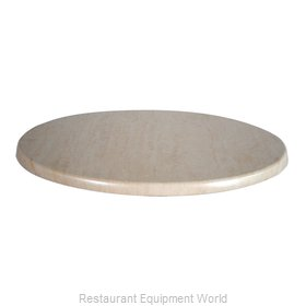 JMC Food Equipment 24 ROUND TRAVERTINE Table Top, Solid Surface