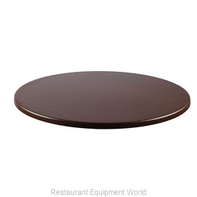 JMC Food Equipment 24 ROUND WENGE Table Top, Solid Surface
