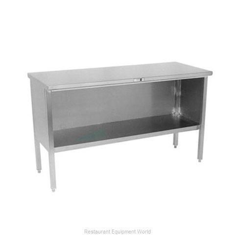 John Boos 140-03 Work Table, Cabinet Base Open Front