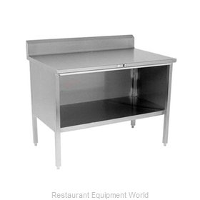 John Boos 140-22 Work Table, Cabinet Base Open Front
