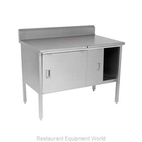 John Boos 140-35 Work Table, Cabinet Base Sliding Doors