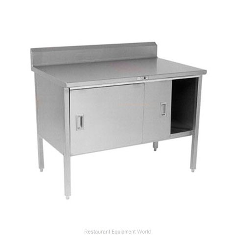 John Boos 140-39A Work Table, Cabinet Base Sliding Doors (Magnified)