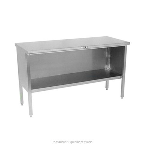 John Boos 160-07 Work Table, Cabinet Base Open Front