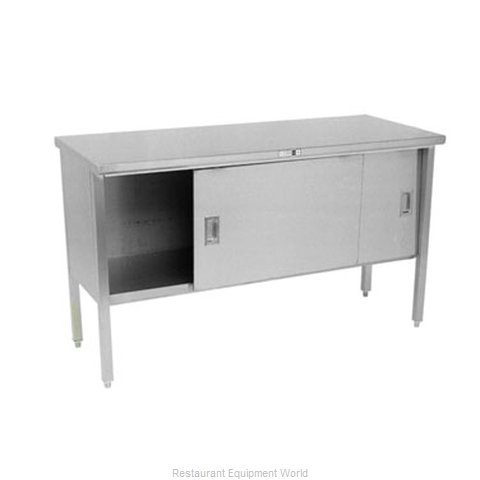 John Boos 160-14 Work Table Cabinet Base Sliding Doors
