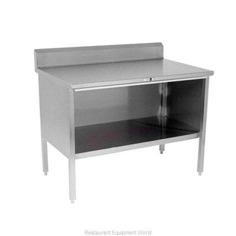 John Boos 160-24A Work Table, Cabinet Base Open Front