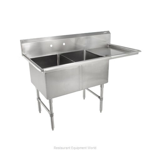 John Boos 2B16204-1D18R Sink 2 Two Compartment