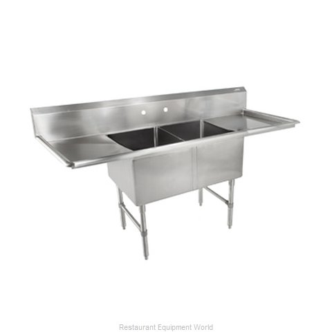 John Boos 2B16204-2D18 Sink 2 Two Compartment