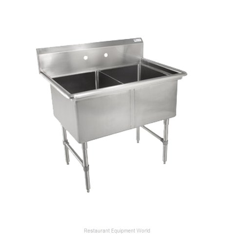 John Boos 2B16204 Sink 2 Two Compartment