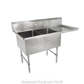 John Boos 2B18244-1D18R-X Sink, (2) Two Compartment