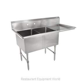 John Boos 2B18244-1D18R Sink, (2) Two Compartment