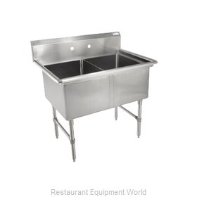 John Boos 2B18244 Sink, (2) Two Compartment