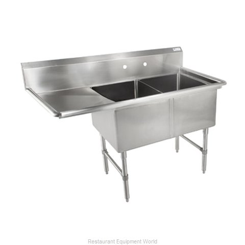 John Boos 2B244-1D24L Sink 2 Two Compartment