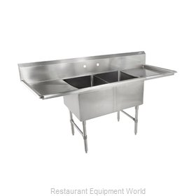 John Boos 2B244-2D24-X Sink, (2) Two Compartment