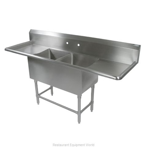 John Boos 2PB1618-2D18 Sink, (2) Two Compartment