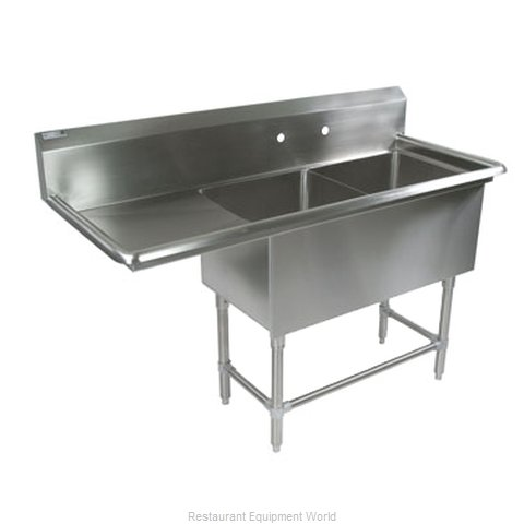 John Boos 2PB18-1D18L Sink 2 Two Compartment