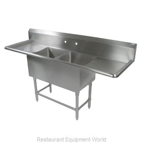 John Boos 2PB18244-2D18 Sink 2 Two Compartment