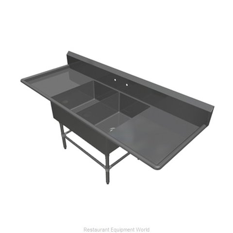 John Boos 2PB2028-2D20 Sink, (2) Two Compartment