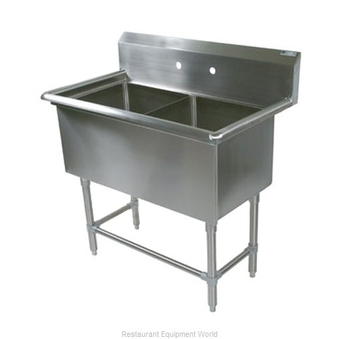 John Boos 2PB30244 Sink, (2) Two Compartment
