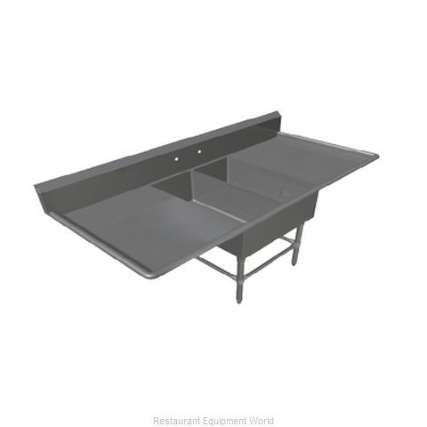 John Boos 2PBPS1431-2D24 Sink 2 Two Compartment