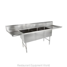 John Boos 3B16204-2D18 Sink, (3) Three Compartment