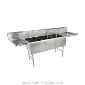 John Boos 3B16204-2D36 Sink, (3) Three Compartment