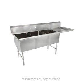 John Boos 3B18244-1D18R-X Sink, (3) Three Compartment