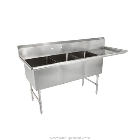 John Boos 3B18244-1D18R Sink, (3) Three Compartment (Magnified)