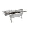 John Boos 3B18244-2D18 Sink, (3) Three Compartment