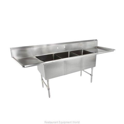 John Boos 3B18244-2D24-X Sink, (3) Three Compartment