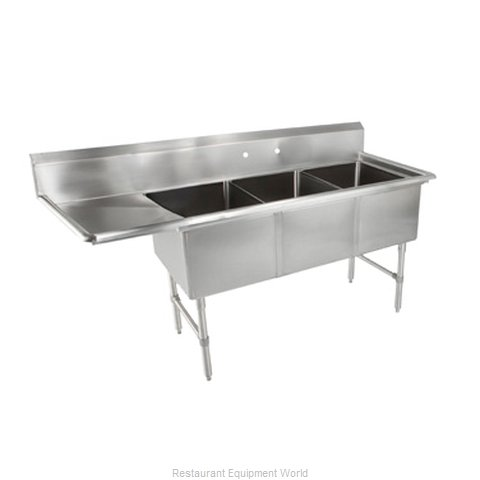 John Boos 3B184-1D18L Sink 3 Three Compartment