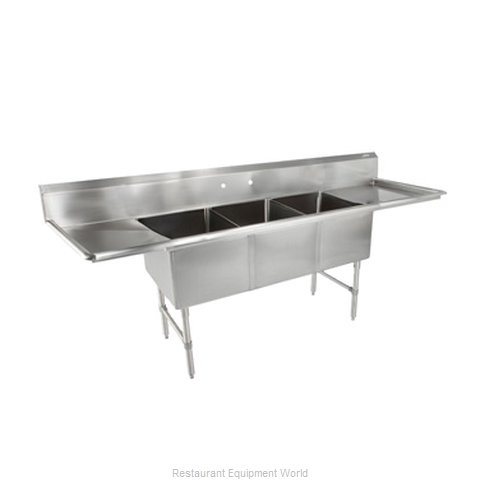 John Boos 3B20304-2D20 Sink 3 Three Compartment (Magnified)