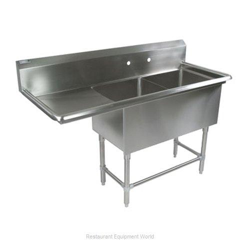 John Boos 42PB18-1D24L Sink, (2) Two Compartment