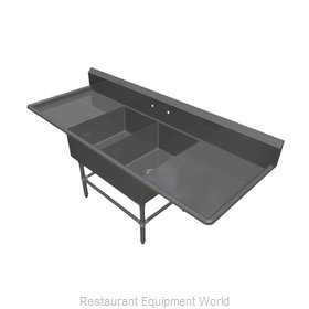 John Boos 42PB20284-2D20 Sink, (2) Two Compartment
