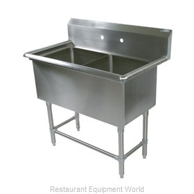 John Boos 42PB204 Sink, (2) Two Compartment