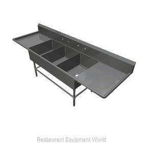 John Boos 43PB16184-2D18 Sink, (3) Three Compartment
