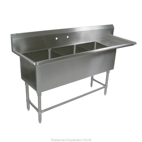 John Boos 43PB18-1D18R Sink, (3) Three Compartment (Magnified)