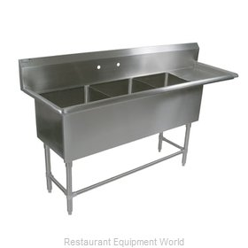 John Boos 43PB18-1D24R Sink, (3) Three Compartment