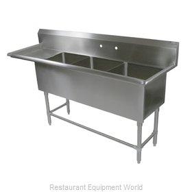 John Boos 43PB1824-1D18L Sink, (3) Three Compartment