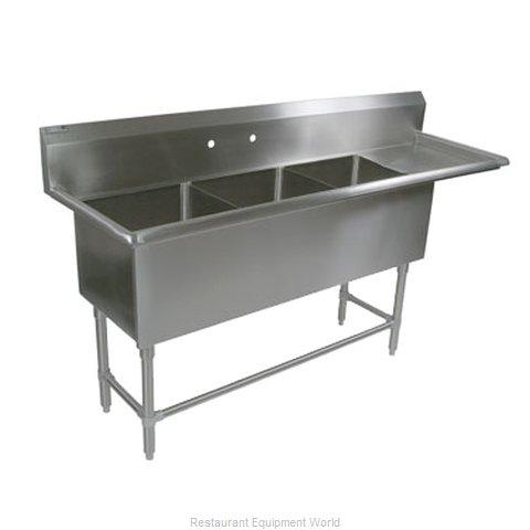 John Boos 43PB1824-1D24R Sink, (3) Three Compartment