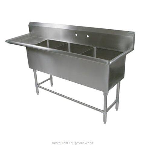 John Boos 43PB1824-1D30L Sink, (3) Three Compartment