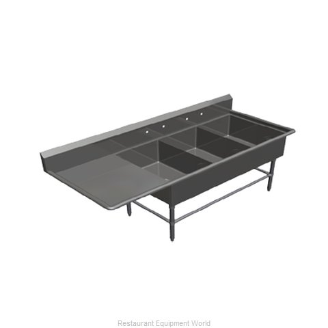 John Boos 43PB2028-1D30L Sink, (3) Three Compartment