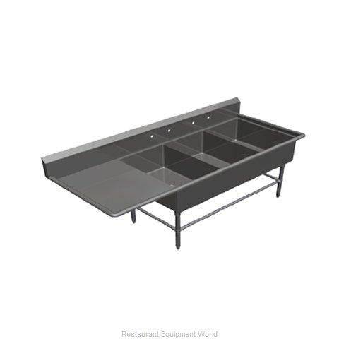 John Boos 43PB2028-1D30L Sink, (3) Three Compartment