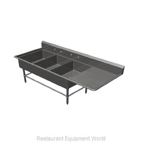 John Boos 43PB20284-1D24R Sink, (3) Three Compartment