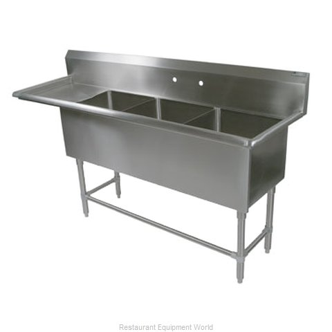 John Boos 43PB24-1D30L Sink 3 Three Compartment