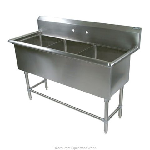 John Boos 43PB30244 Sink 3 Three Compartment (Magnified)
